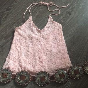 Tops - Light pink halter top